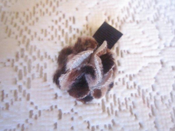 画像1: 【クリップピン】ハイミアのお花(豹柄) (1)