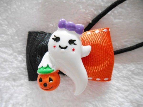 画像1: ハロウィンに!リボン(ミニ)/おばけちゃん (1)