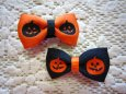画像1: 【クリップピン】ハロウィンに!かぼちゃのリボン (1)