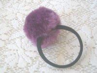 画像1: ボンボン(紫)の太ゴム(1)